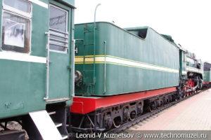 Пассажирский паровоз П36-001 в Железнодорожном музее на Рижском вокзале