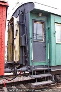 Пассажирский вагон 1931 года переоборудованный в вагон-кухню санитарного поезда ВСП124 в Железнодорожном музее на Рижском вокзале