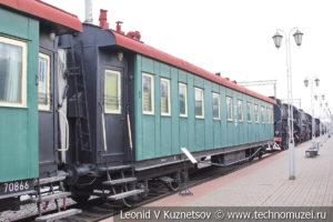 Вагон-операционная №017-70841 санитарного поезда ВСП124 в Железнодорожном музее на Рижском вокзале