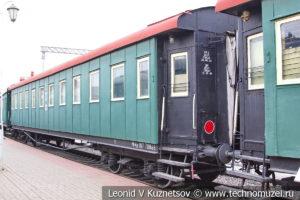 Вагон-лазарет №017-708661 санитарного поезда ВСП124 в Железнодорожном музее на Рижском вокзале
