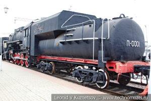 """Паровоз П-0001 """"Победа"""" в Железнодорожном музее на Рижском вокзале"""