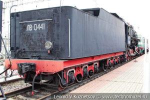 Паровоз ЛВ-0441 в Железнодорожном музее на Рижском вокзале