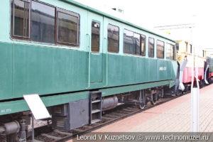 Дизельная дефектоскопная мотриса АМД-3-001 в Железнодорожном музее на Рижском вокзале