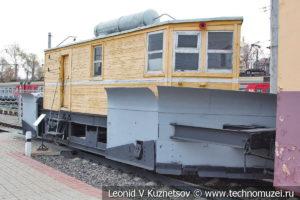 Снегоочиститель ЦУМЗ в Железнодорожном музее на Рижском вокзале