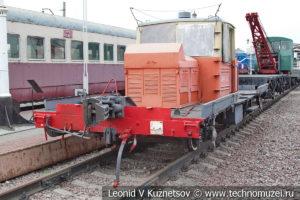 Автодрезина АГМс-862 в Железнодорожном музее на Рижском вокзале