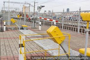 Железнодорожный переезд с устройствами автоматического заграждения УЗП в Железнодорожном музее на Рижском вокзале