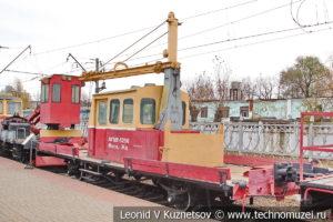 Грузовая монтажная автодрезина АГМу-5256 в Железнодорожном музее на Рижском вокзале