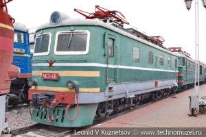Пассажирский электровоз ЧС3-045 в Железнодорожном музее на Рижском вокзале
