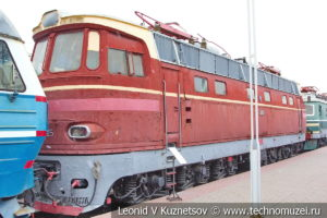 Пассажирский электровоз ЧС4-025 в Железнодорожном музее на Рижском вокзале