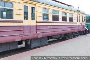 Моторвагонный электропоезд ЭР22-38 в Железнодорожном музее на Рижском вокзале