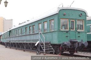 Шестиосный пассажирский вагон-салон Владикавказского типа №70032 в Железнодорожном музее на Рижском вокзале