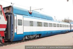 Опытный скоростной электропоезд Сокол-250 в Железнодорожном музее на Рижском вокзале