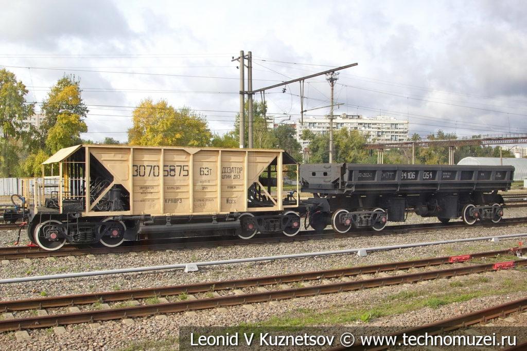 Хоппер-дозатор и думпкар в Железнодорожном музее на Рижском вокзале
