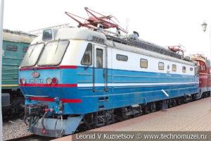 Электровоз ЧС2К-712 1969 года в Железнодорожном музее на Рижском вокзале