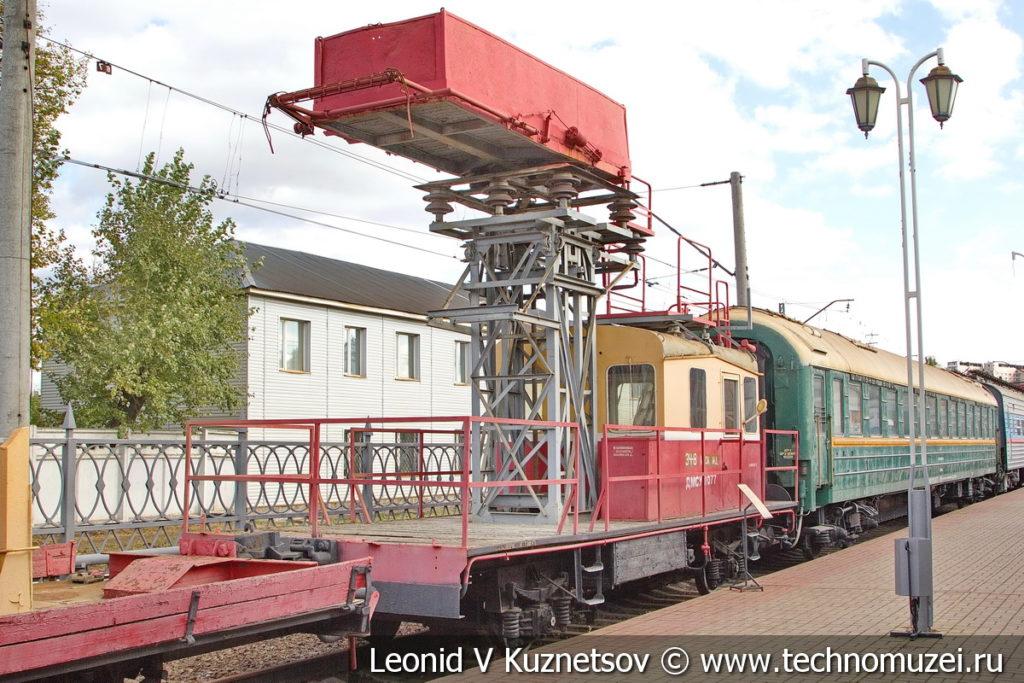 Скоростная монтажная дрезина ДМСу в Железнодорожном музее на Рижском вокзале