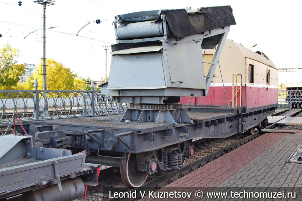 Путевая машина в Железнодорожном музее на Рижском вокзале
