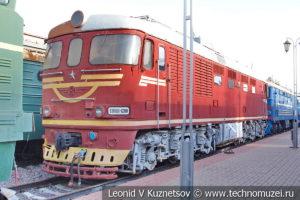 Пассажирский тепловоз ТЭП60-1200 в Железнодорожном музее на Рижском вокзале