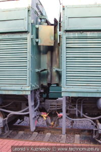 Двухсекционный тепловоз 2ТЭ10Л-3621 в Железнодорожном музее на Рижском вокзале