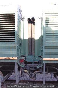 Двухсекционный тепловоз ТЭ3-5151 в Железнодорожном музее на Рижском вокзале