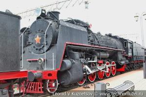 Паровоз ФД 21-3125 в Железнодорожном музее на Рижском вокзале