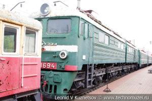 Двухсекционный электровоз ВЛ8-1694 в Железнодорожном музее на Рижском вокзале
