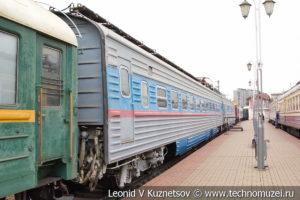 Первый советский скоростной электропоезд ЭР-200 в Железнодорожном музее на Рижском вокзале