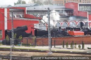 Угольный склад в железнодорожном музее на станции Подмосковная