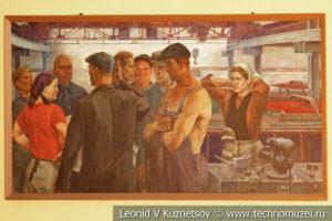Механические мастерские паровозного депо в железнодорожном музее на станции Подмосковная