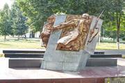 Памятник воинам, ушедшим на фронт, в Новомосковске