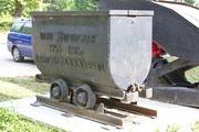 Памятник шахтная вагонетка в Узловой