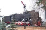 Памятник паровоз Л-0498 во Владимире
