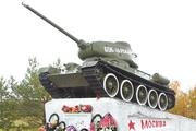 Памятник танк Т-34-85 в Хилово
