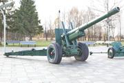 Гаубица-пушка МЛ-20 у мемориала Панфиловцам
