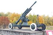 Памятник зенитная пушка 52-К на трассе М-2
