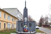 Реактивный снаряд М-13 на памятнике в Можайске