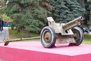 Пушка ОБ-25 у музея обороны Москвы