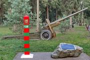 Памятник пушка А-19 в Новомосковске