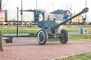 Памятник пушка СД-44 в Новопетровском