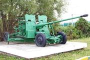 Памятник зенитная пушка С-60 в деревне Пешки