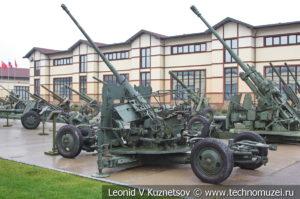 57-мм автоматическая зенитная пушка С-60 1950 года в музее отечественной военной истории в Падиково