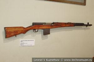 7,62-мм самозарядная винтовка Токарева СВТ-40 образца 1940 года в музее отечественной военной истории в Падиково