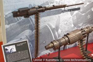 7,62-мм авиационный пулемёт ШКАС в музее отечественной военной истории в Падиково