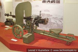 12,7-мм крупнокалиберный станковый пулемёт ДШК образца 1938 года в музее отечественной военной истории в Падиково