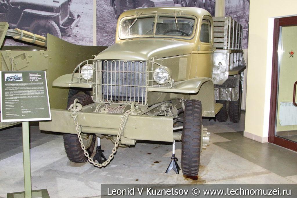 Грузовой полноприводный автомобиль Chevrolet 7117 (США) 1940 года в музее отечественной военной истории в Падиково