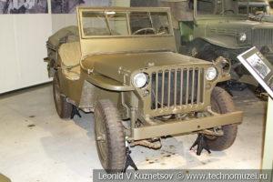 Легковой полноприводный автомобиль Willys MB (США) 1941 года в музее отечественной военной истории в Падиково