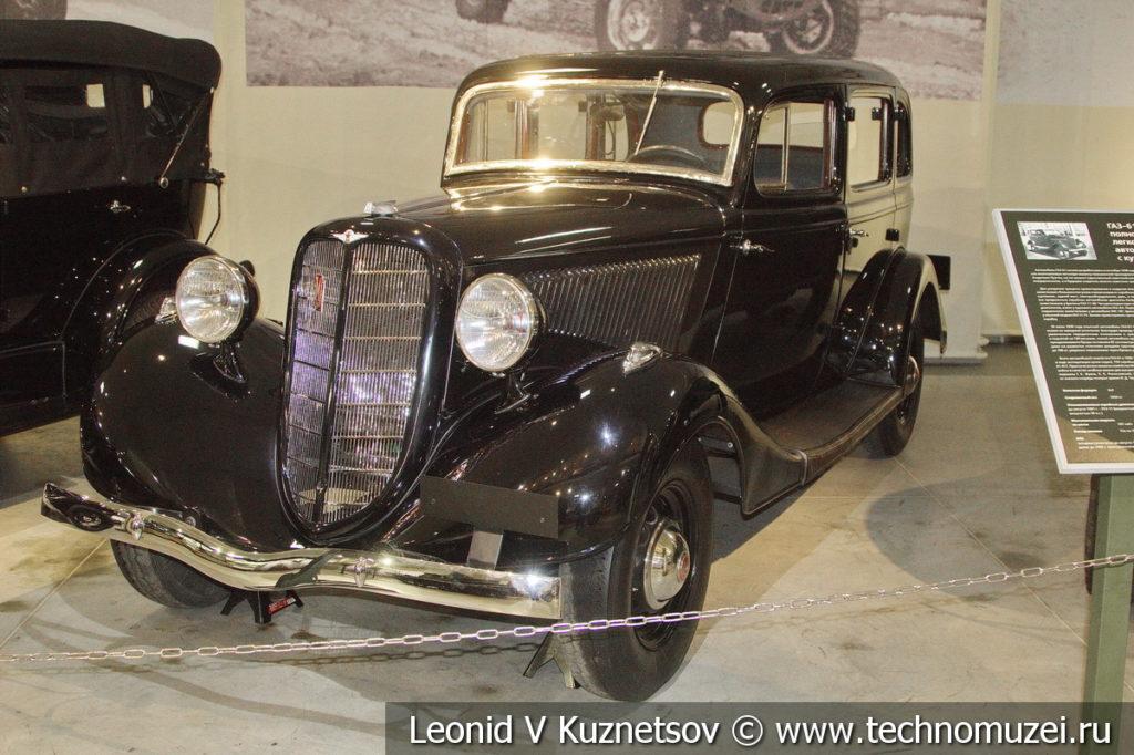 Легковой автомобиль ГАЗ-М-1 1936 года в музее отечественной военной истории в Падиково