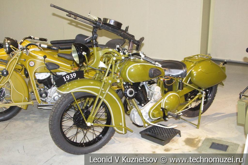 Мотоцикл ТИЗ-АМ-600 1936 года в музее отечественной военной истории в Падиково