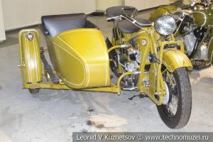 Мотоцикл ПМЗ-А-750 1934 года в музее отечественной военной истории в Падиково