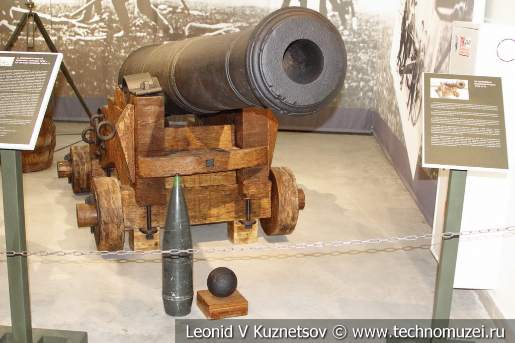 30-фунтовая морская пушка 1795 года в музее отечественной военной истории в Падиково