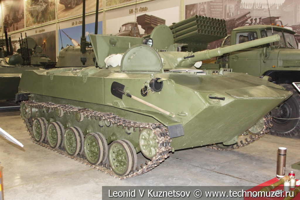 БМД-1 боевая десантная машина 1968 года в музее отечественной военной истории в Падиково